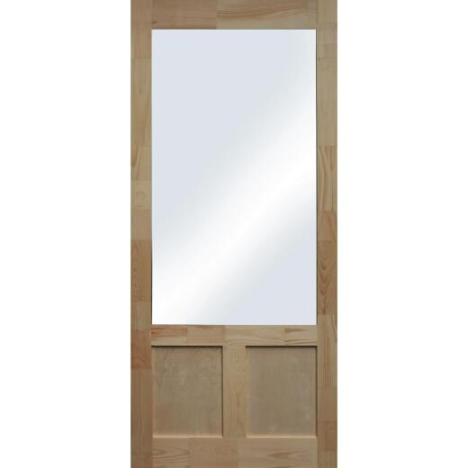 Snavely Kimberly Bay Elmwood 36 In. W. x 80 In. H. x 1-3/8 In. Thick Natural Pine Wood Screen Door