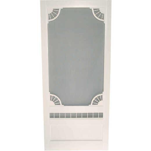 Snavely Kimberly Bay Dakota 32 In. W x 80 In. H x 1 In. Thick White Vinyl Screen Door