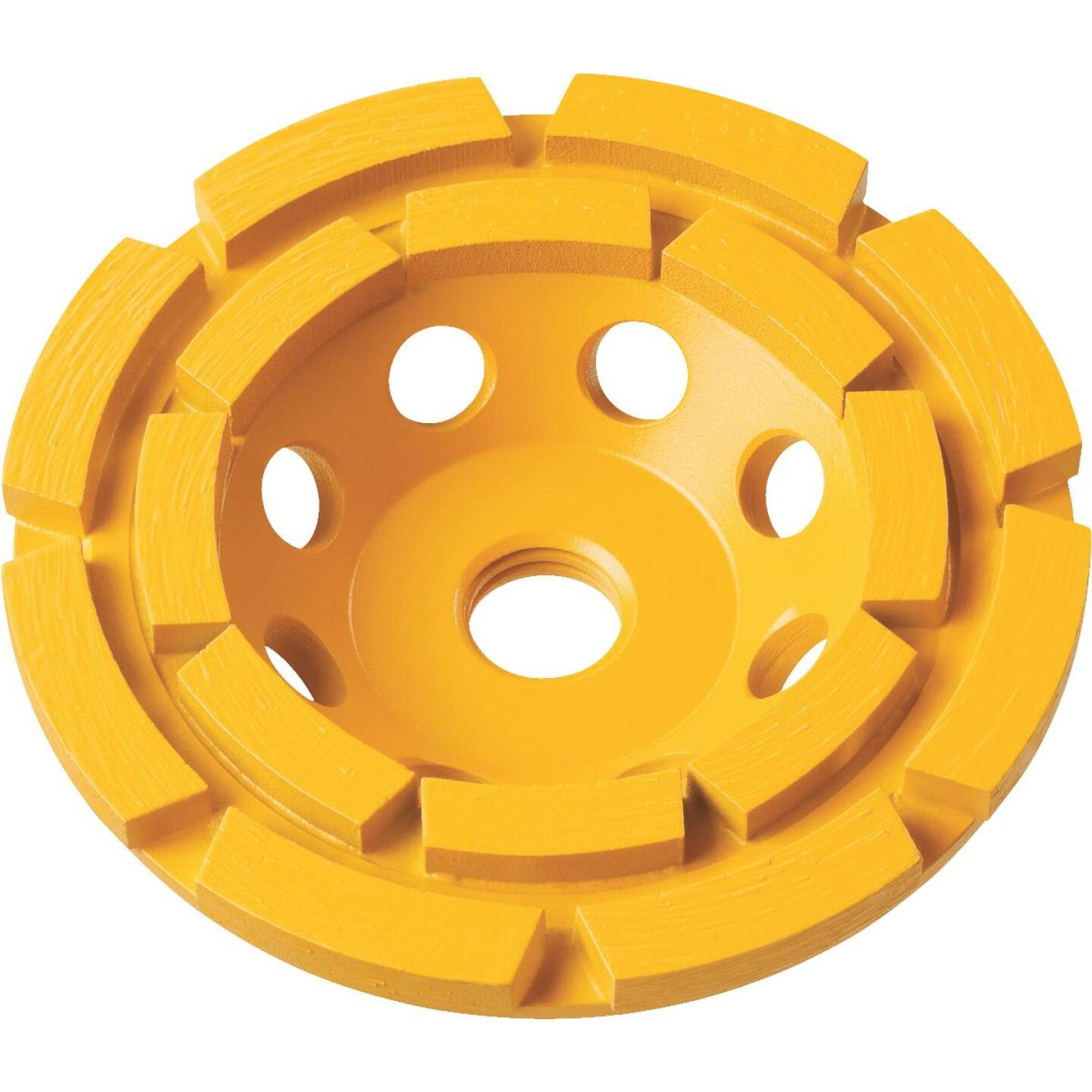 DeWalt 4 In. Segmented Double Row Masonry Cup Wheel Image 1
