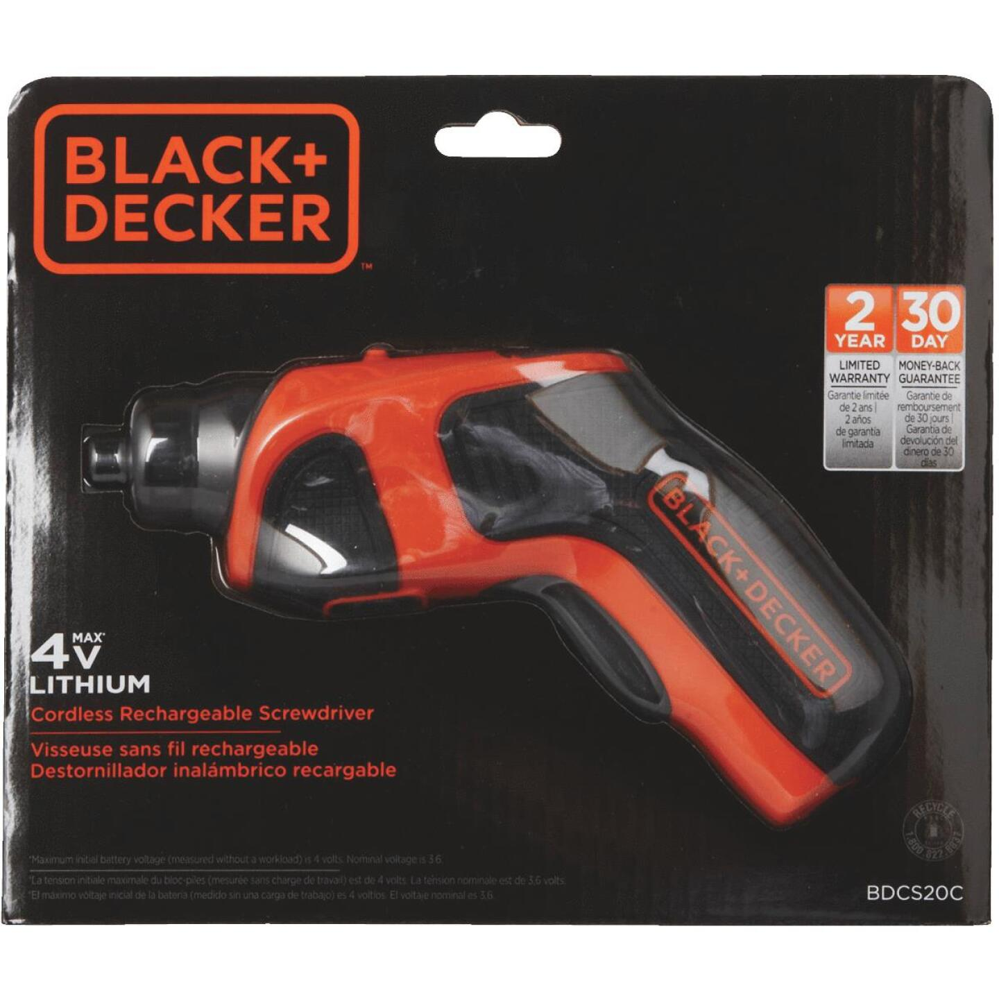 Black & Decker 4-Volt MAX Lithium-Ion 1/4 In. Cordless Screwdriver Image 2