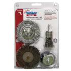 Weiler Vortec 4 pcs Abrasive Wheel & Brush Set Image 2