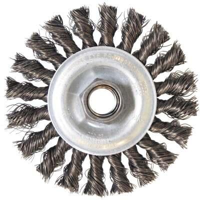 Weiler Vortec 4 In. Stringer Bead 0.014 In. Angle Grinder Wire Wheel