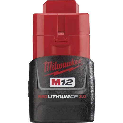 Milwaukee M12 REDLITHIUM 12 Volt Lithium-Ion 3.0 Ah Compact Tool Battery