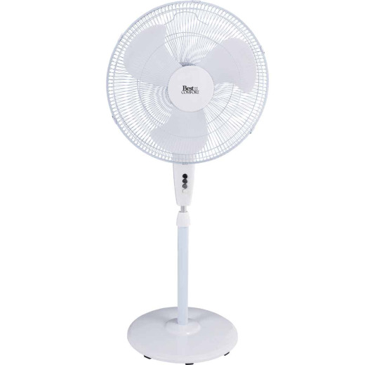 Best Comfort 18 In. 3-Speed 30 In. to 36 In. H. Oscillating Pedestal Fan