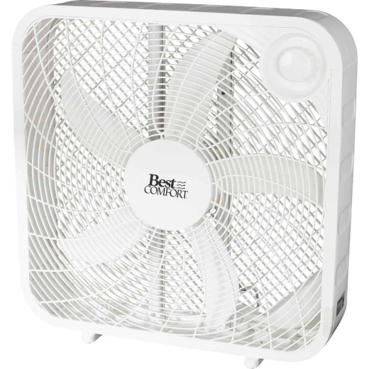 Best Comfort 20 In. 3-Speed White Box Fan