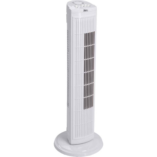 Best Comfort 30 In. 3-Speed White Tower Fan