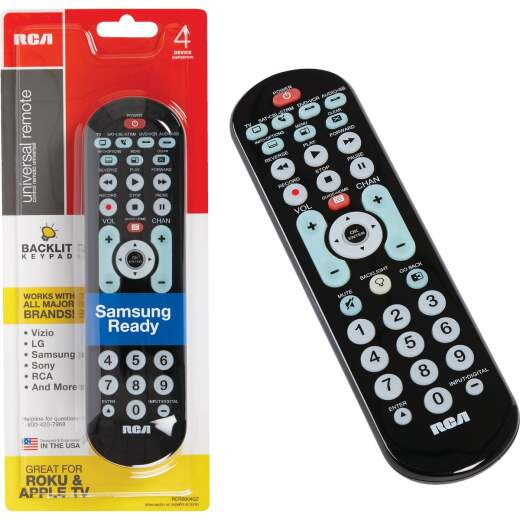 RCA 4-Device Universal Black Big Button Remote Control