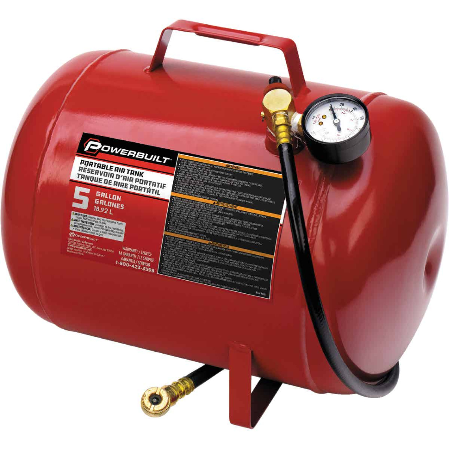 Powerbuilt 5 Gallon Portable Shop Air Tank Image 1