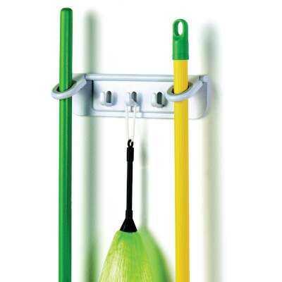 Spectrum 11-1/4 In. Mop & Broom Long Handle Tool Rack