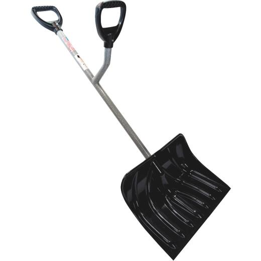 Ergieshovel 18 In. Poly Snow Shovel with 36.25 In. Steel Handle