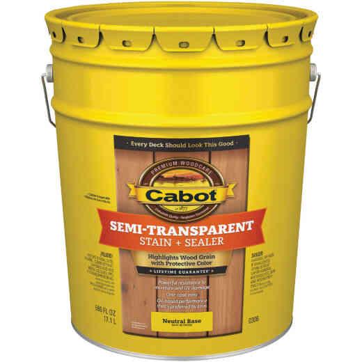 Cabot Semi-Transparent Deck & Siding Exterior Stain, Neutral Base, 5 Gal.