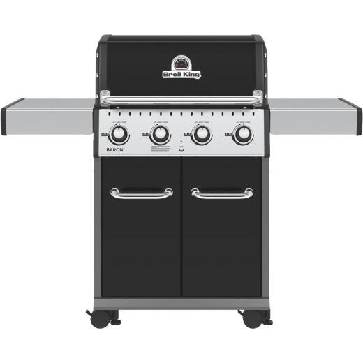 Broil King Baron 420 Pro Special Edition Black 4-Burner Stainless Steel 40,000 BTU LP Gas Grill