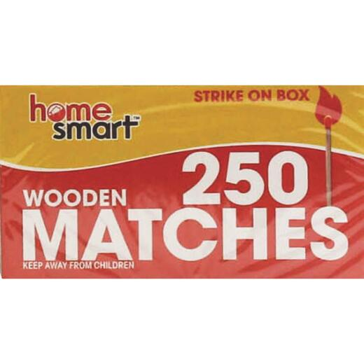 Home Smart 2-1/8 In. 250-Count Wooden Kitchen Matches (2-Pack)